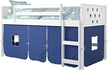 DONCO KIDS Circles Low Loft Bed, Twin, White
