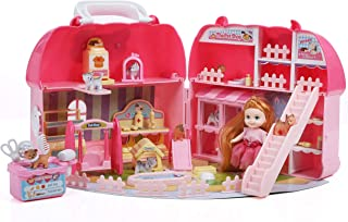 Beverly Hills All in 1 Pet Shop Set - Play, Grooming and Vet Station - with 1 Doll, 8 Play Puppies and 50 Accessories. in a Carry Case