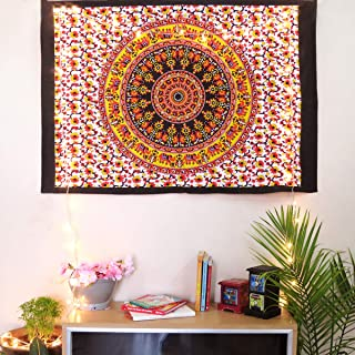Oussum Printed Tapestry Cotton Wall Decor Posters Bohemian Wall Hanging Tapestry Room Decor Small Bedsheet Decorative Post...