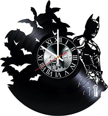 Batman Dark Knight Vinyl Record Wall Clock - Get Unique Bedroom livingroom Wall Decor - Gift