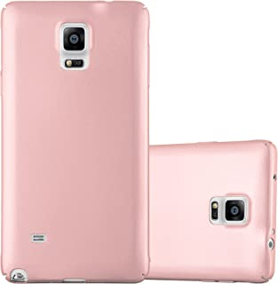 Cadorabo Funda para Samsung Galaxy Note 4 en Metal Oro Rosa - Cubierta Protección de Plástico Duro Super Delgada e Inflexible con Antichoque - Case Cover Carcasa Protectora Ligera