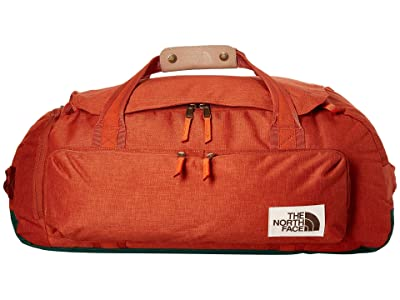 The North Face Berkeley Duffel Medium (Picante Red Dark Heather/Night Green Light Heather) Duffel Bags