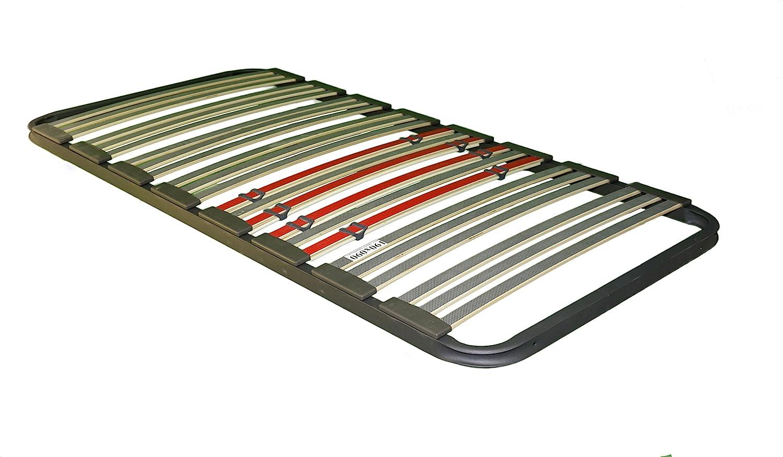 Bonitex - Somier multiláminas 80x200cm (sin patas) con REGULADORES LUMBARES, FIRMEZA ADAPTABLE, TUBO 40x30MM y LÁMINAS de HAYA natural antideslizantes