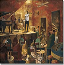 Artistic Home Gallery Red Jazz by Didier Lourenco Premium Rolled Canvas Giclee Art (Ready-to-Stretch)
