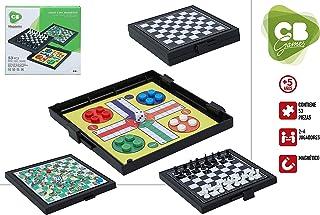 DISOK Lote de 12 Juegos de Mesa de Viaje 3 en 1 (Parchis+Ajedrez+Escaleras) 53 Pcs - Juego Magnéticos Infantiles Adultos Niños. Regalos de Bodas, Comuniones, Fiestas Cumpleaños: Amazon.es: Juguetes y juegos