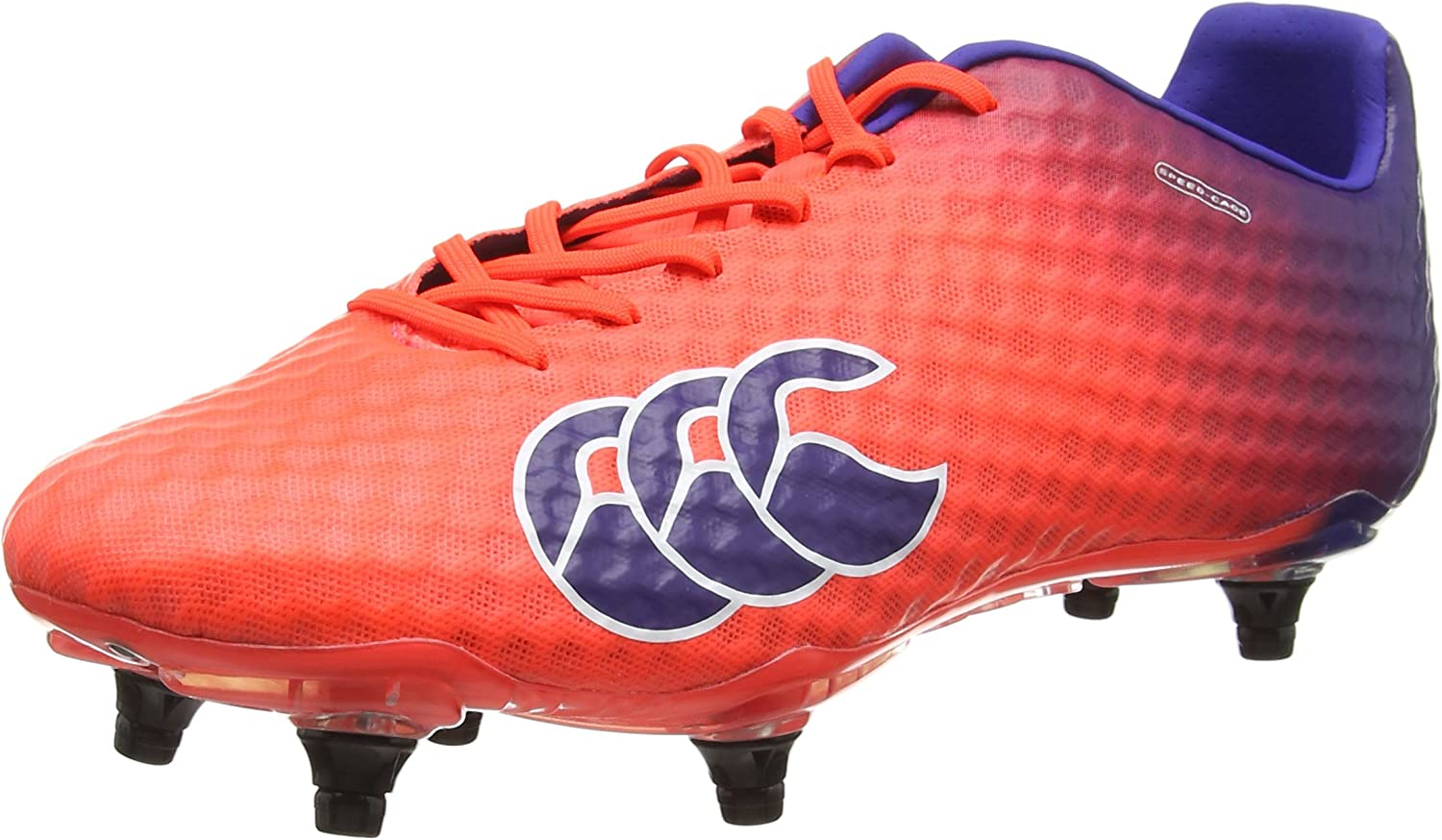 Gifts Canterbury Speed Courier shipping free Elite 6 Stud Orange Purple Boots Rugby