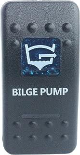 BANDC Waterproof Car Boat Blue Led 5 pin spst on-Off Bilge Pump Rocker Switch