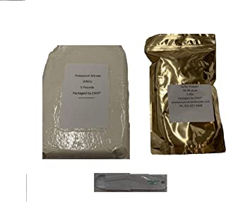 5lb Potassium Nitrate and 2lb Sulfur Powder Combo Free Spoon Included!
