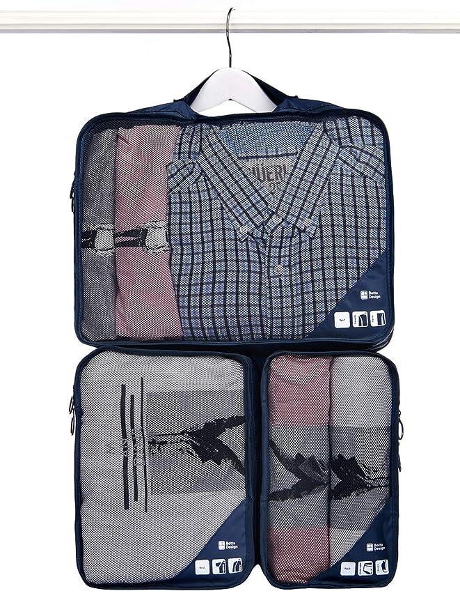 幸運な創始者酔っ払いトラベルポーチ アレンジケース 3点セット 吊り下げ収納 出張 旅行 スーツケース整理 衣類収納 ワイシャツケース 小物入れ クローゼット整理 軽量 大容量 オーガナイザー インナーバッグ 旅行用便利グッズ