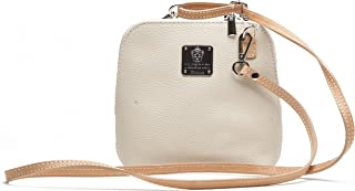 Messenger Bag by I Medici That are Directly Imported from Italy Cream Leather Bag 298