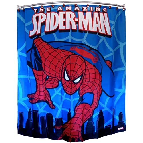 Spiderman Marvel Polyester 70 X 72 Inch Shower Curtain