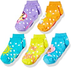 Nickelodeon Girls' Little Bubble Guppies 5 Pack Shorty Sock