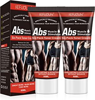 Belly Fat Burning Cream, (2Pack) Hot Cream for Abdomen, Natural Sweat Workout Enhancer, Cellulite Treatment for Thighs, Le...