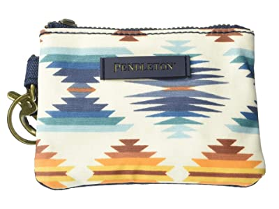 Pendleton Canopy Canvas ID Pouch Key Ring (Falcon Cove Sunset) Travel Pouch