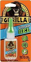 Gorilla Glue Super Glue Gel, Fast-Setting, Thicker Controlled Formula, Anti-Clog Cap, Versatile Cyanoacrylate Glue, Clear,...