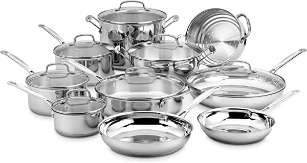 Cuisinart 77 17N 17 Piece Chef S Classic Set Stainless Steel