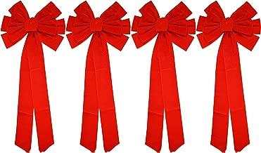 Red Velvet Bow (4 Pack) 26