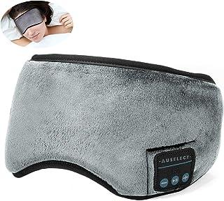 Bluetooth Sleep Headphones, AUSELECT Wireless Sleeping Eye Mask Updated Soft Music Sports Headband Headphones, Perfect Sle...