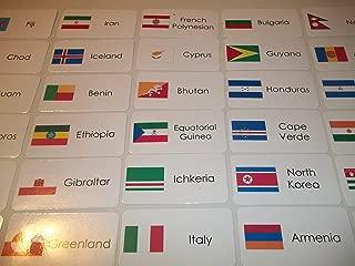 245 Laminated World Flags Flashcards.