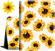 """Case for Amazon Fire HD 10 Tablet 10.1"""" , with Sunflower Sticker, Slim PU Leather Cover with Auto Sleep Wake Feature Folio..."""