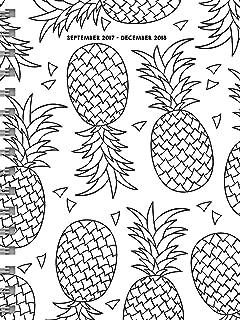 2018 Color Me Pineapples Medium Weekly Monthly Planner