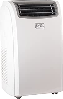 Black + Decker BPACT14HWT Portable Air Conditioner, 14,000 BTU + Heat, White