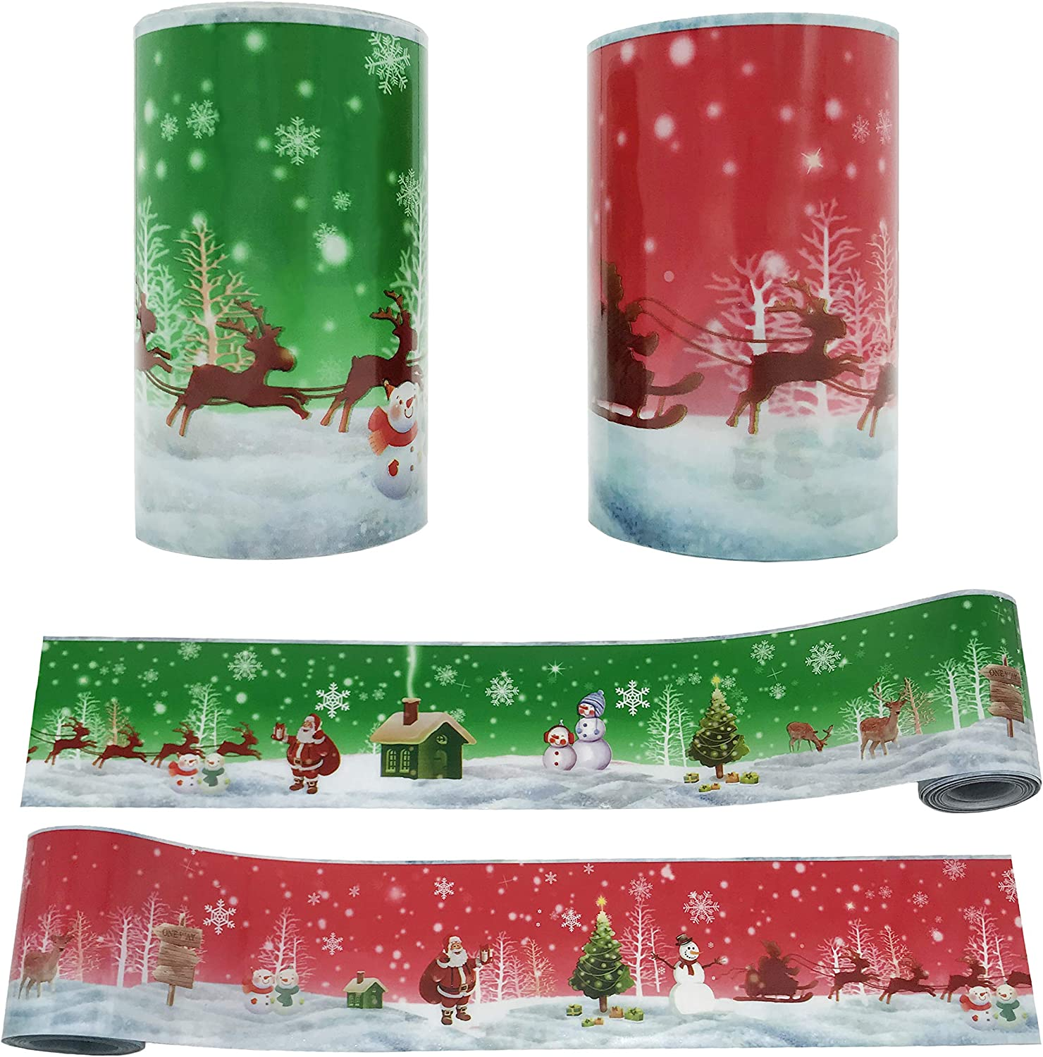2PCS Recommendation sold out Christmas Cake Collars Packaging Acetate Sheets C Roll