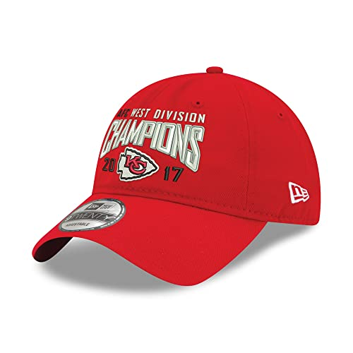 8657ca6132f New Era Kansas City Chiefs 2017 AFC West Division Champions 9TWENTY Adjustable  Hat Red