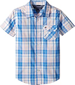 Tommy Hilfiger Kids - Short Sleeve Scout Yarn-Dye Shirt (Toddler/Little Kids)