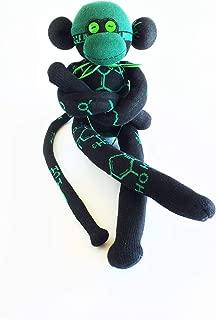 THC Molecule - Sock Monkey - Chemistry - Cannabis - 420 - Purple Monkey Balls - Monkey Paw - Funky Monkey - Grease Monkey - Black Monkey