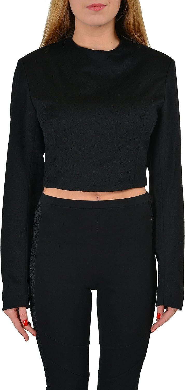 Hugo Boss 100% Baby Camel Black Women's Cropped Sweater US S IT 40