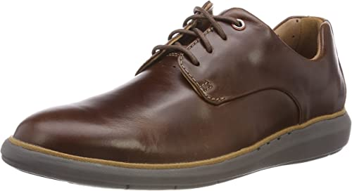 Clarks Men's Un Voyageplain Mahogany Leather Boat Shoes