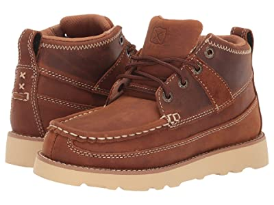 Twisted X Wedge Sole Boot (Little Kid/Big Kid) (Oiled Saddle) Shoes