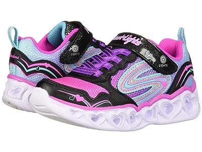 SKECHERS KIDS Sport Lighted Heart Lights 20294L (Little Kid/Big Kid) (Black/Multi) Girl