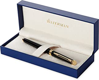 Waterman Hemisphere Black with Golden Trim, Fountain Pen with Fine nib and Blue ink (S0920610)