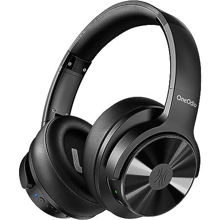 OneOdio(2021 New)Hybrid Noise Cancelling Bluetooth Headphones Over Ear headphone, Studio Level Hi-Fi Sound Deep Bass Soft Comfortable CVC 8.0 Clear Call, wireless Headphone for Smart Phones PC Travel