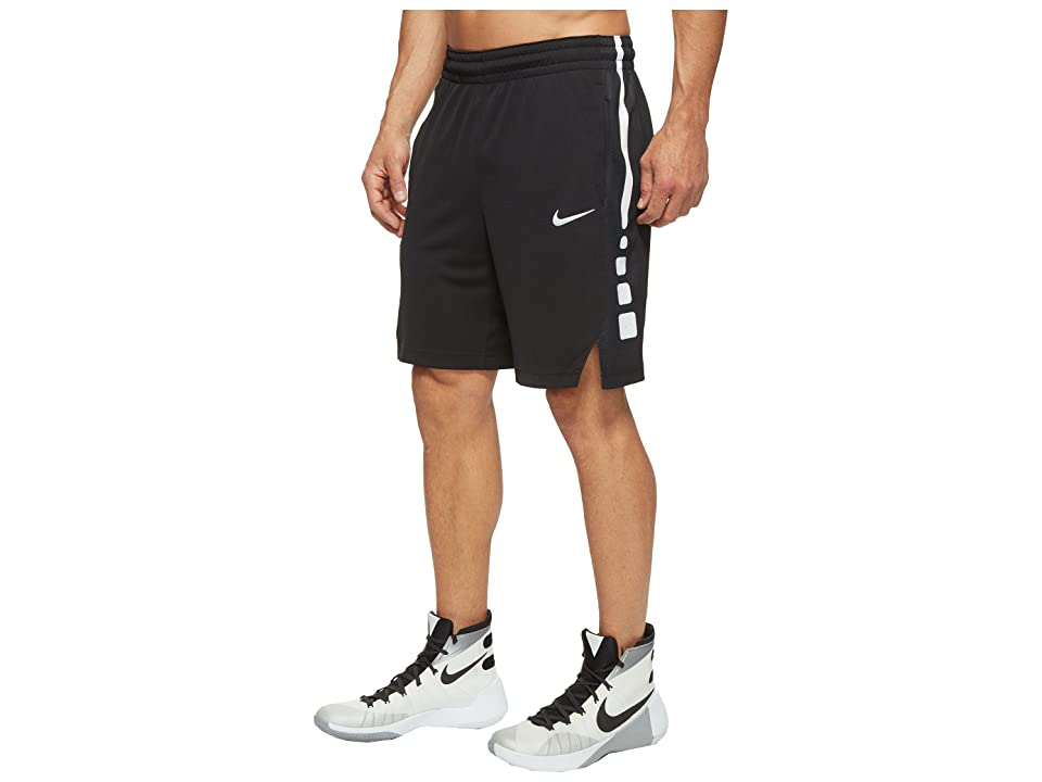Nike Elite Stripe Basketball Short (Black/Black/White/White) Men