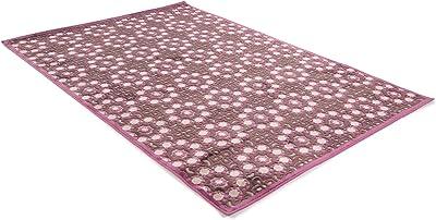 Benuta Modern Rug for Living Room and Bedroom, Viscose, Purple, 154 x 230 x 0.02 cm