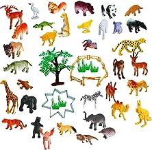 Amitasha Mini Jungle Animal Toys Figure Playing Set for Kids (Pack of 30)