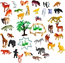 Amitasha Mini Jungle Animal Toys Figure Playing Set for Kids (Pack of 30)