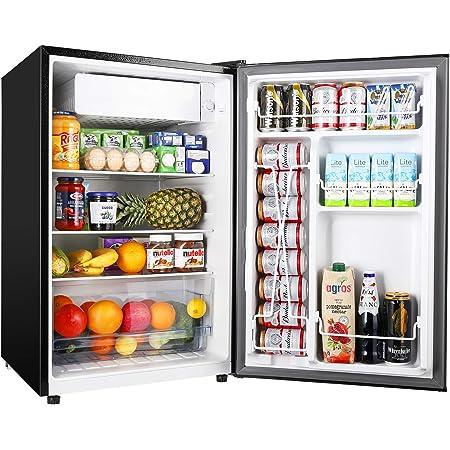 TECCPO Mini Fridge TAMF33, 4.5 Cu.Ft Mini Fridge with Freezer, Energy Star, Auto Defrost, Super Quiet, Small Refrigerator for Dorm, Bedroom