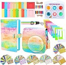 Sunmns Camera Accessories Bundle Kit Set for Fujifilm Instax Mini 9, Accessory Include Case, Album, Film Stickers, Desk Frames, Hanging Frame, Filters, Strap (Rainbow)