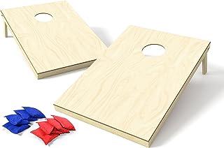Backyard Champs Wood Cornhole Set (8 Bags Included)