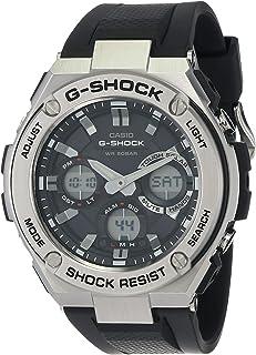 Casio - Men's G-Shock GSTS110-1A Black Stainless-Steel Quartz Sport Watch