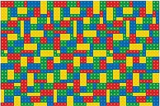 Fun Express - Block Party Backdrop Banner for Birthday - Party Decor - Wall Decor - Preprinted Backdrops - Birthday - 3 Pieces