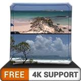 spiaggia libera rilassante HD spot - decora la tua stanza con uno splendido scenario sulla tua TV HDR 4K, TV 8K e dispositivi di fuoco come sfondo, decorazione per le vacanze di Natale, tema per la me