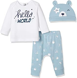 Silly Apples Baby Toddler Boys or Girls Fall Outfit 3-Piece Teddy Bear T-Shirt, Pant and Hat Homecoming Gift Set