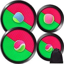 Elcoho - Juego de palas y pelotas de golf con bolsa de almacenamiento para actividades al aire libre, 4 palas y 4 bolas