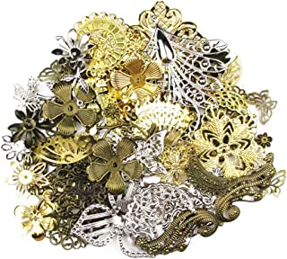 ALL in ONE Mixed Antique Bronze/gold/platinum Alloy Pendants Beads Charms Chains Connectors Jewelry Findings 50 grams