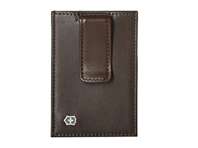 Victorinox Altius Edge Napier Money Clip w/ RFID (Dark Earth Leather) Travel Pouch